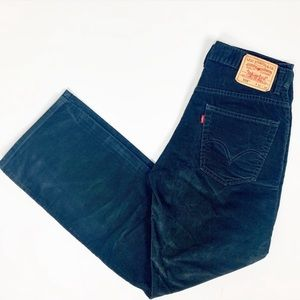 Men's Levi's 559 Corduroy Black Pants 32x32